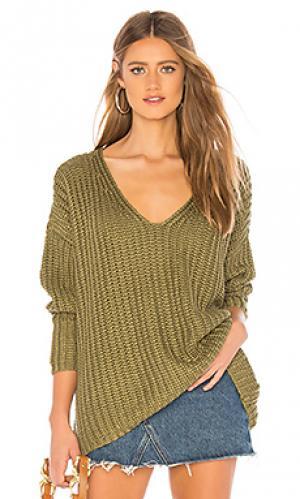 Пуловер adams Tularosa. Цвет: зеленый