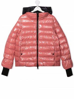 TEEN zip-up hooded padded jacket Herno Kids. Цвет: розовый