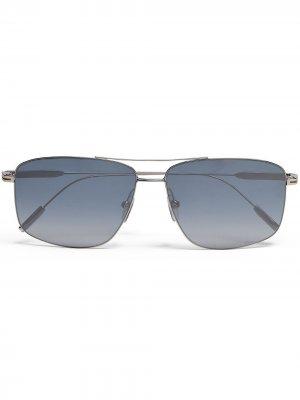 Солнцезащитные очки-авиаторы Leggerissimo Ermenegildo Zegna. Цвет: синий