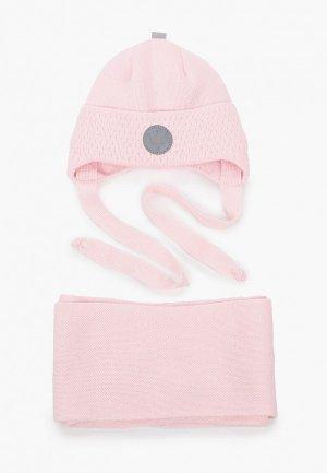 Шапка и шарф Prikinder. Цвет: розовый