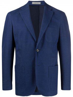 Однобортный пиджак Corneliani. Цвет: синий