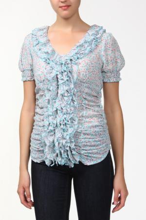 Блузка Sabra. Цвет: голубой