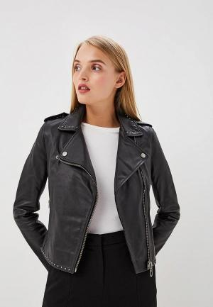 Куртка кожаная Pinko. Цвет: черный