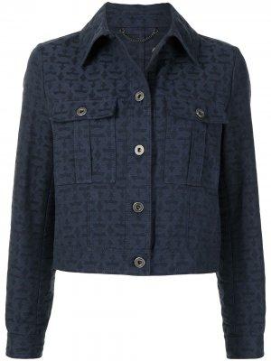 Джинсовая куртка Gancini Salvatore Ferragamo. Цвет: синий