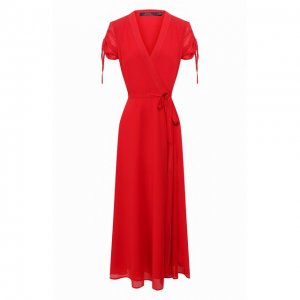 Платье-миди Polo Ralph Lauren. Цвет: красный