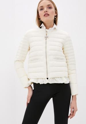 Куртка утепленная Blugirl Folies. Цвет: белый