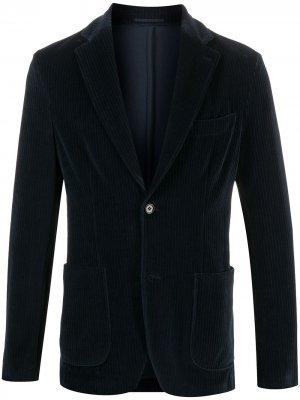 Вельветовый однобортный пиджак Seventy. Цвет: синий
