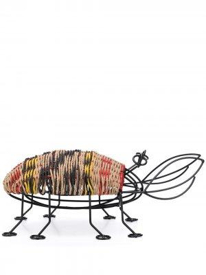 Woven bug ornament MARNI INTERIORS. Цвет: черный