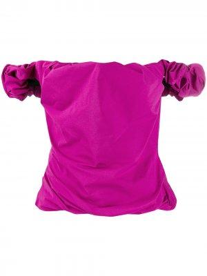 Топ со сборками и открытыми плечами Maison Margiela. Цвет: розовый