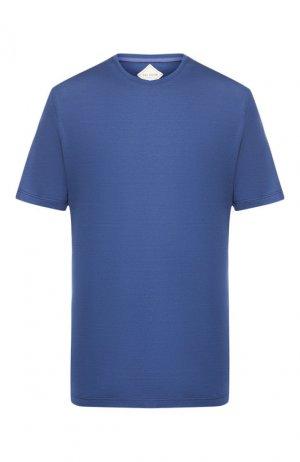 Хлопковая футболка Pal Zileri. Цвет: синий