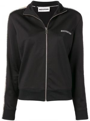Спортивная куртка на молнии Each X Other. Цвет: черный