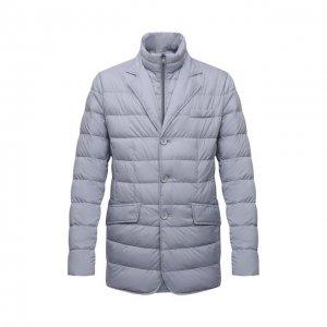 Пуховая куртка Herno. Цвет: голубой