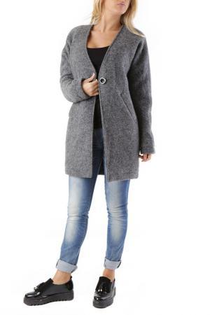 Пальто 525. Цвет: серый