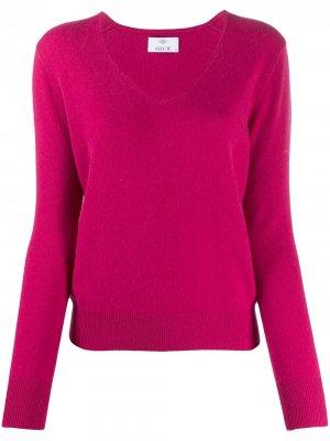 Кашемировый свитер с V-образным вырезом Allude. Цвет: розовый