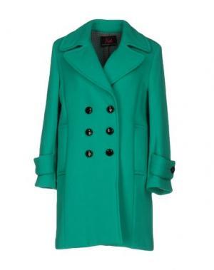Пальто BETTA CONTEMPORARY COUTURE. Цвет: бирюзовый