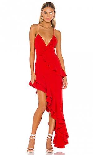 Вечернее платье riya Lovers + Friends. Цвет: красный