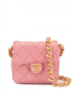 Стеганая мини-сумка 1990-х годов Chanel Pre-Owned. Цвет: розовый