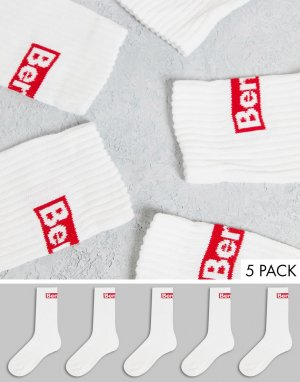 Набор из 5 пар белых спортивных носков Puccino-Разноцветный Bench