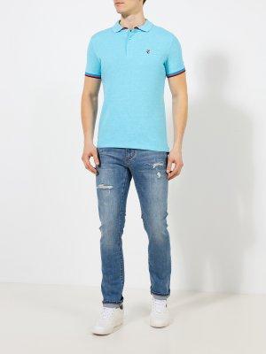 Зауженные джинсы Korpo Two. Цвет: goluboy