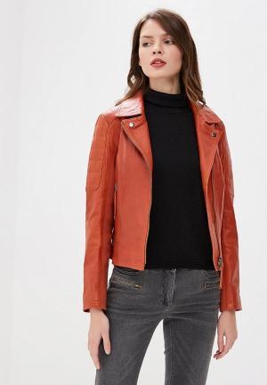 Куртка кожаная Madeleine MP002XW1GXNS. Цвет: оранжевый