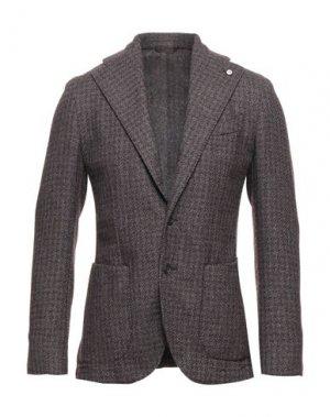 Пиджак BRANDO. Цвет: баклажанный