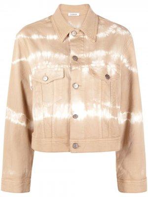Джинсовая куртка с принтом тай-дай P.A.R.O.S.H.. Цвет: нейтральные цвета