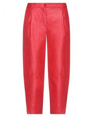 Укороченные брюки IMPERIAL. Цвет: красный