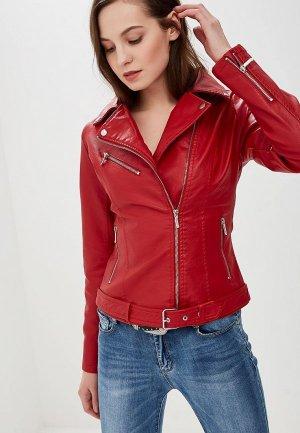 Куртка кожаная Elardis. Цвет: красный