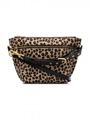 Клатч с леопардовым принтом Sacai. Цвет: черный