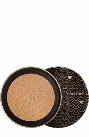 Бронзирующая сияющая пудра для лица Terracotta Gold Light Xmas Edition Guerlain. Цвет: бесцветный