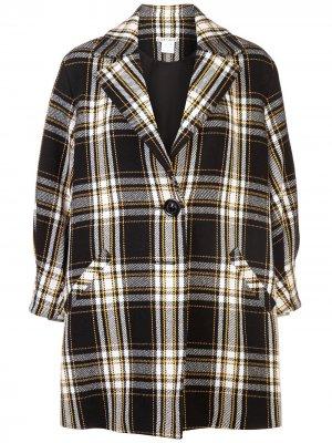 Пальто в стиле оверсайз Lance Alice+Olivia. Цвет: черный