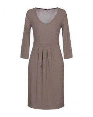 Платье до колена B.YU. Цвет: хаки