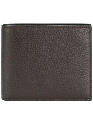 Бумажник в два сложения Canali. Цвет: коричневый