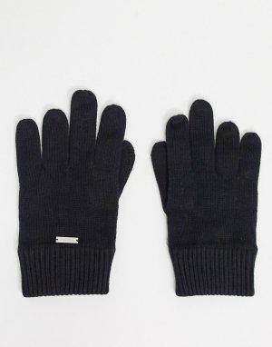 Вязаные перчатки -Черный Calvin Klein