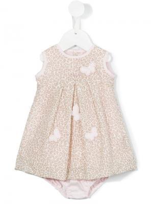 Платье с леопардовым узором Loredana. Цвет: розовый