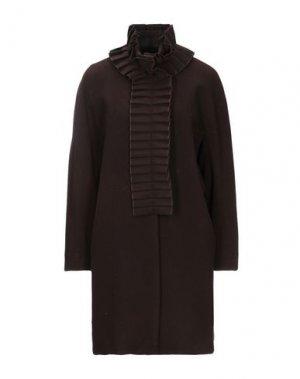 Пальто CLIPS. Цвет: темно-коричневый