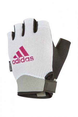 Перчатки для фитнеса adidas. Цвет: белый