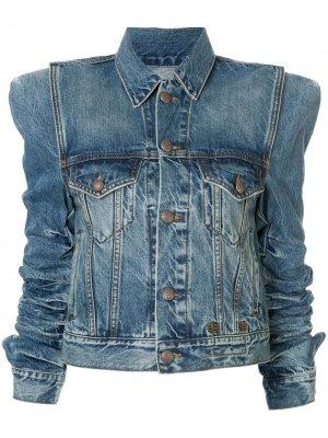 Джинсовая куртка со сборками R13