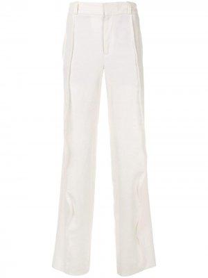 Широкие брюки с завышенной талией Ann Demeulemeester. Цвет: белый