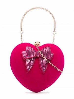 Heart shoulder bag Monnalisa. Цвет: розовый