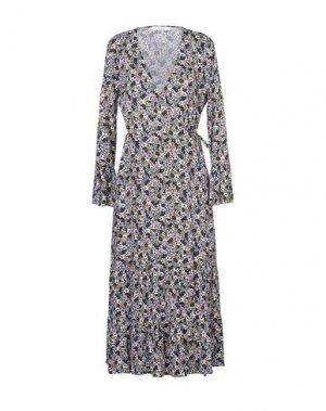 Длинное платье GESTUZ. Цвет: черный