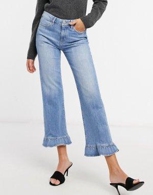M.i.h. Синие джинсы Lou с широкими штанинами и оборками-Синий MiH Jeans