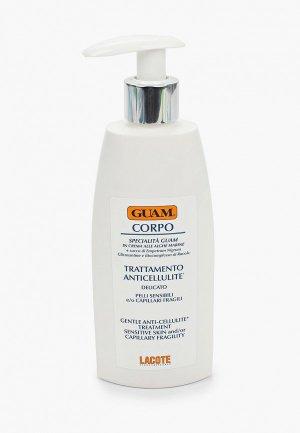 Крем для тела Guam антицеллюлитный чувствительной кожи с хрупкими капиллярами, CORPO, 200 мл. Цвет: прозрачный