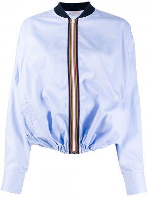 Куртка-бомбер на молнии MRZ. Цвет: синий