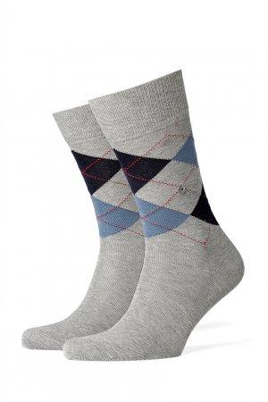 Серые носки Manchester Burlington. Цвет: серый