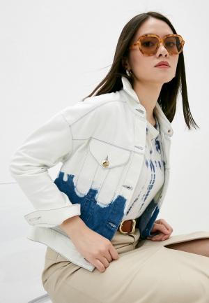 Куртка джинсовая Trussardi. Цвет: голубой