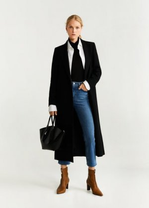 Укороченные джинсы flare - Bootcrop Mango. Цвет: синий средний