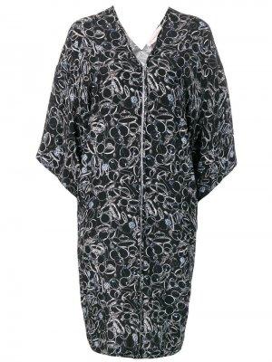 Платье на молнии с принтом A.F.Vandevorst