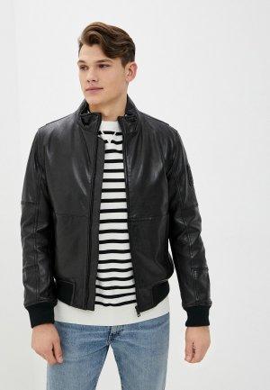 Куртка кожаная Strellson Muralto. Цвет: черный