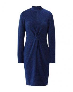 Платье до колена KARL LAGERFELD. Цвет: синий